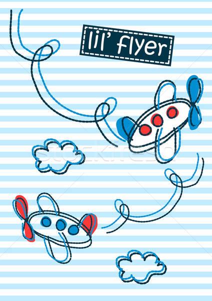チラシ 空気 機 刺繍 ストックフォト © adamfaheydesigns