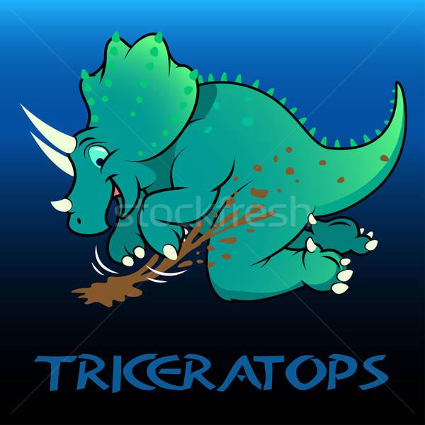 Triceratops cute character dinosaurs Stock photo © adamfaheydesigns