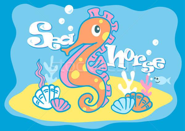 Baby sea horse Stock photo © adamfaheydesigns