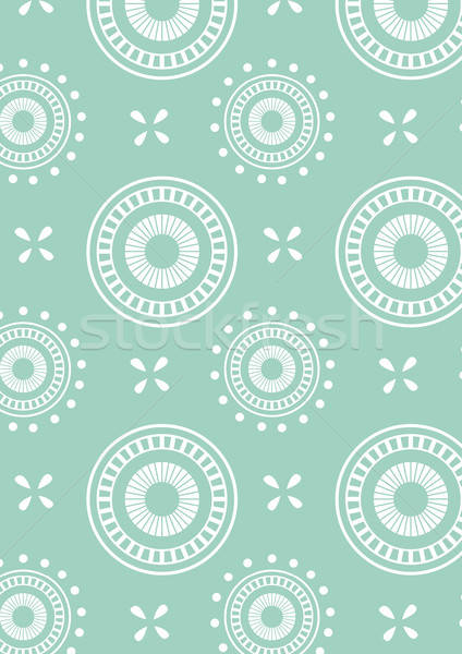 Detailed abstract circle repeat pattern in green Stock photo © adamfaheydesigns