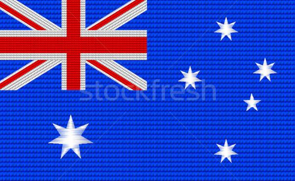 Australiano bandera bordado diseno patrón estrellas Foto stock © adamfaheydesigns