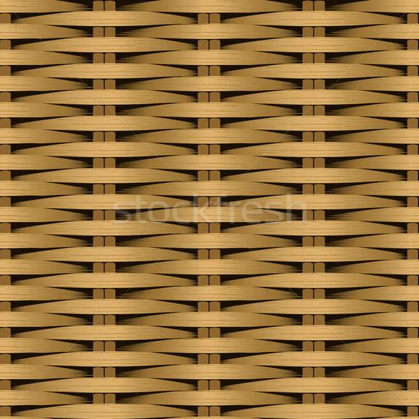 Cane flat woven fiber seamless pattern Stock photo © adamfaheydesigns