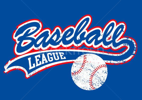 Beysbol komut arka plan spor star poster Stok fotoğraf © adamfaheydesigns
