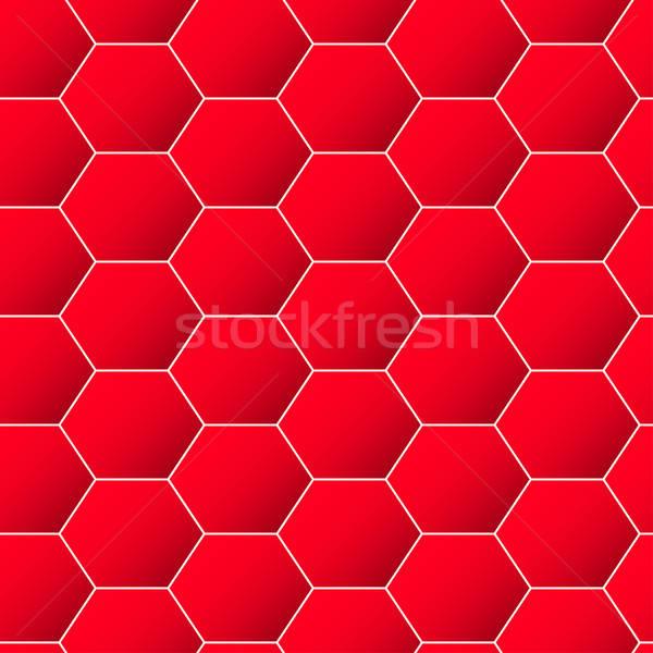 Piros mértani hatszög végtelen minta háttér keret Stock fotó © adamfaheydesigns