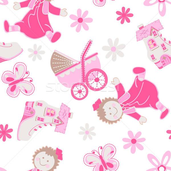 Ayakkabı ev bebek çiçek Stok fotoğraf © adamfaheydesigns