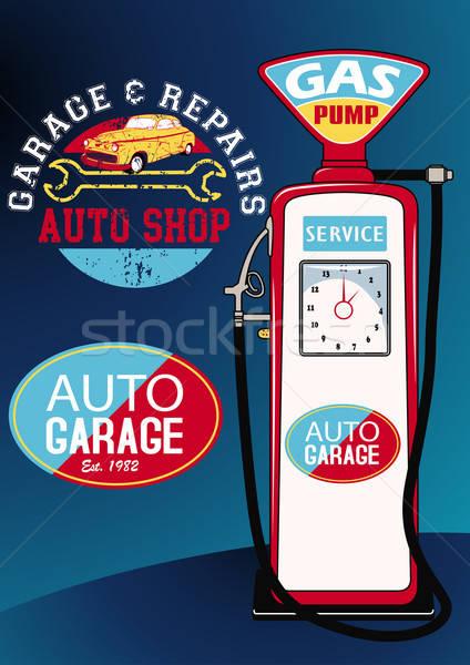 Autó benzinkút pumpa felirat autó benzin szállítás Stock fotó © adamfaheydesigns