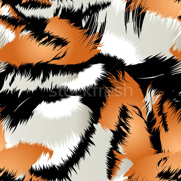Wild tiger stripes in a seamless pattern Stock photo © adamfaheydesigns