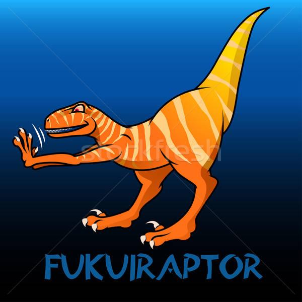 Fukuiraptor cute character dinosaurs Stock photo © adamfaheydesigns
