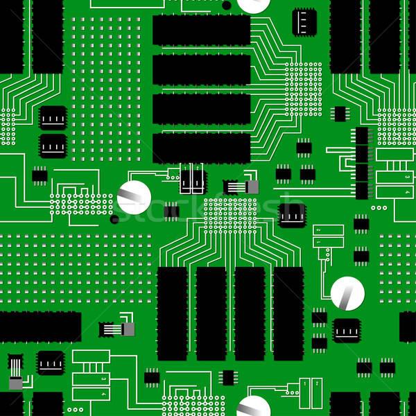 Vert circuit texture avenir pouvoir Photo stock © adamfaheydesigns