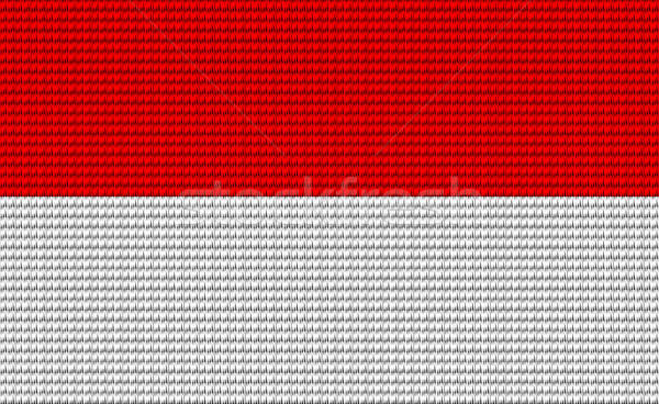 Indonesia flag embroidery design pattern Stock photo © adamfaheydesigns