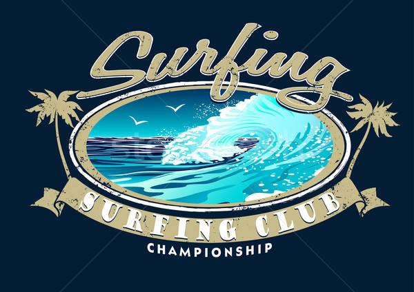 Surfen club kampioenschap golf water zomer Stockfoto © adamfaheydesigns