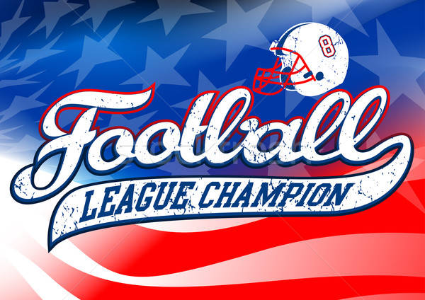 Football league champion on USA flag Stock photo © adamfaheydesigns