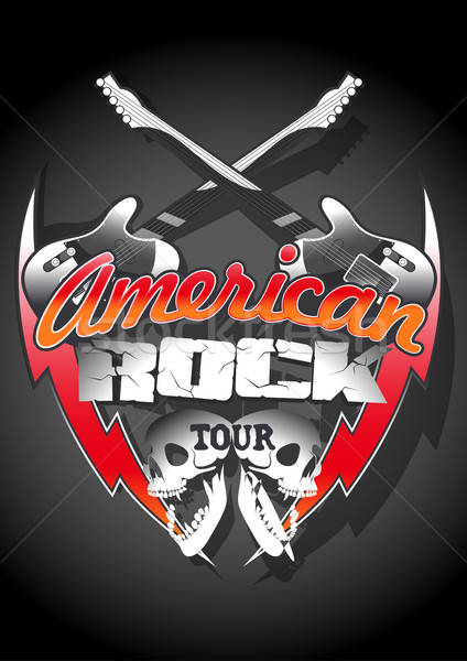 American rock tour with skulls under a spot light Stock photo © adamfaheydesigns