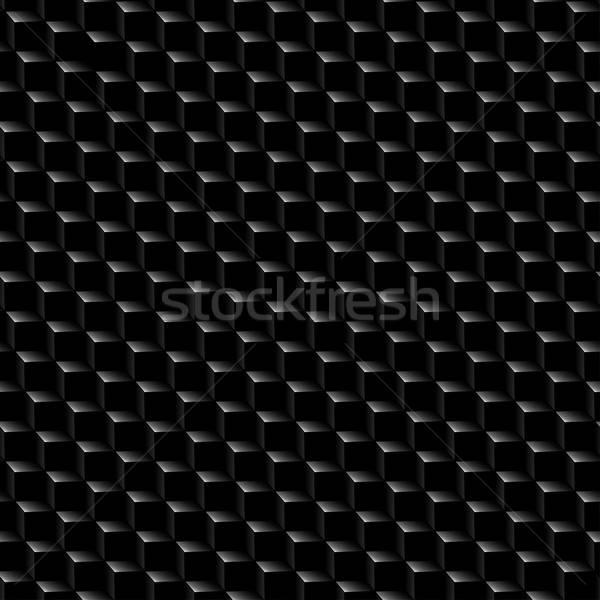 Black graphite cubed texture seamless pattern Stock photo © adamfaheydesigns