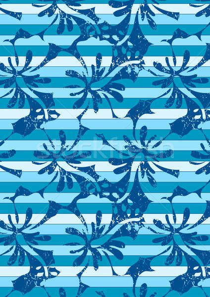 Blue hibiscus stripes in a repeat pattern Stock photo © adamfaheydesigns