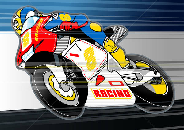 Motorbike sports racing embroidery applique Stock photo © adamfaheydesigns
