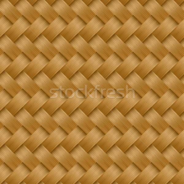Cane woven fiber seamless pattern Stock photo © adamfaheydesigns