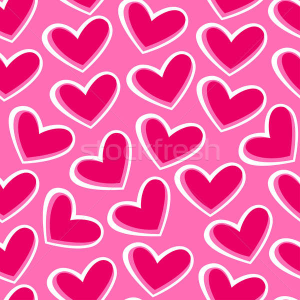 Pink hearts in a seamless pattern Stock photo © adamfaheydesigns