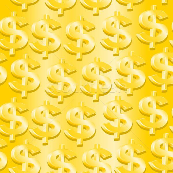 Arany dollár szimbólum végtelen minta üzlet pénz Stock fotó © adamfaheydesigns