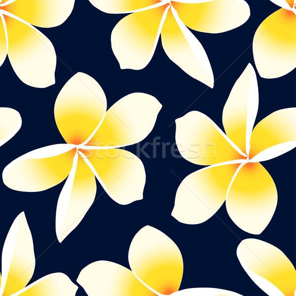 Amarillo tropicales floral flor verano Foto stock © adamfaheydesigns