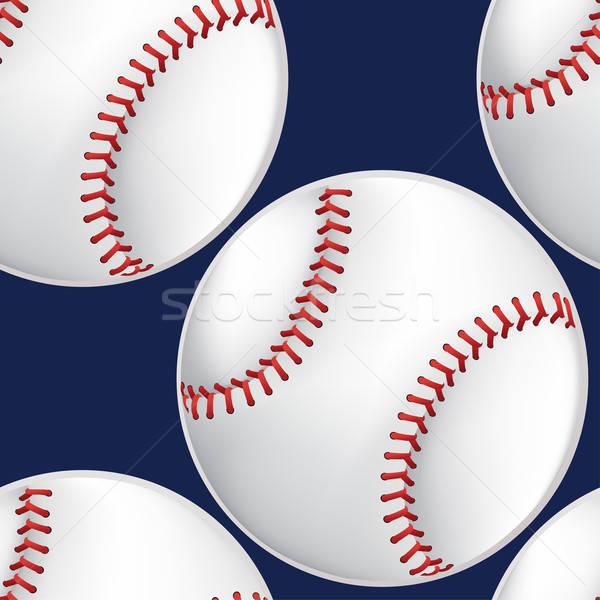 Baseball végtelen minta 3D stílus sportok Stock fotó © adamfaheydesigns