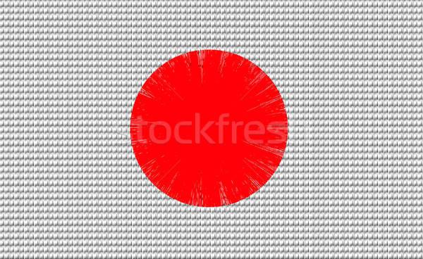 Japán zászló hímzés terv minta divat Stock fotó © adamfaheydesigns