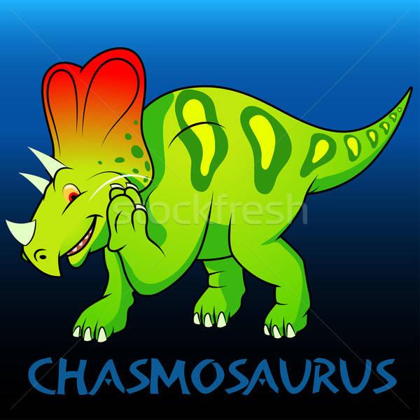 Chasmosaurus cute character dinosaurs Stock photo © adamfaheydesigns