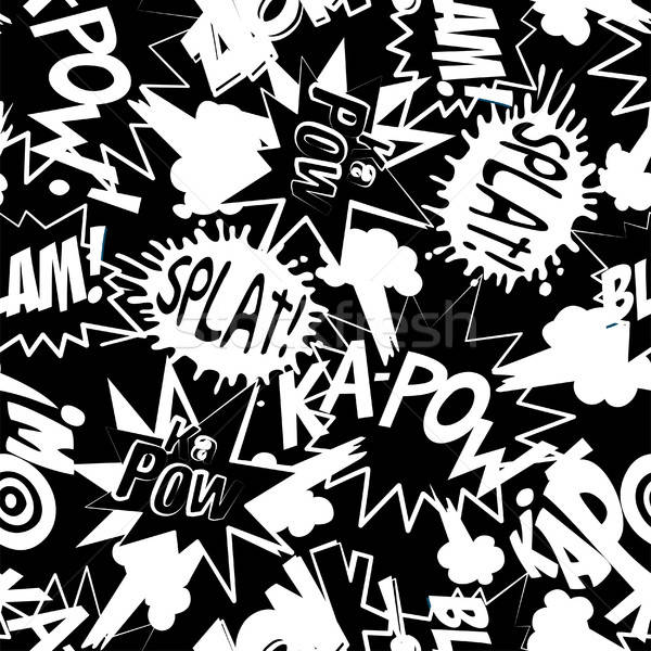Comic book action words in a seamless pattern Stock photo © adamfaheydesigns