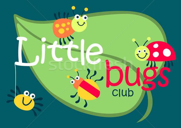 Little bugs club on a green leaf Stock photo © adamfaheydesigns