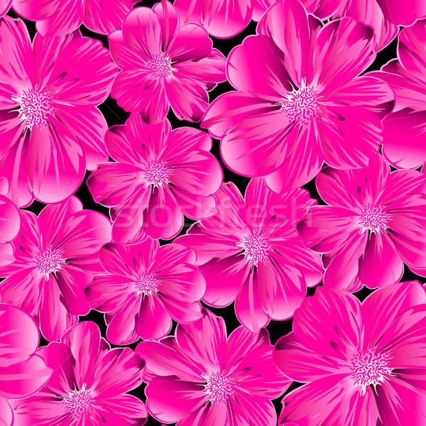 Pink flowers in a seamless pattern Stock photo © adamfaheydesigns