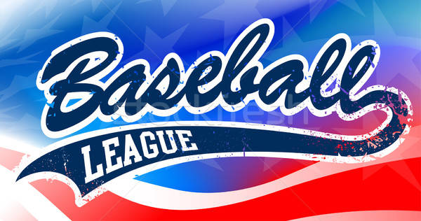 Baseball script on an American flag background Stock photo © adamfaheydesigns