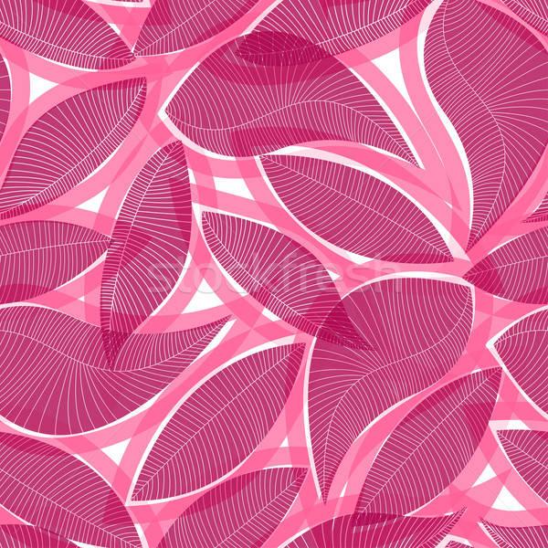 Piros absztrakt trópusi végtelen minta textúra terv Stock fotó © adamfaheydesigns
