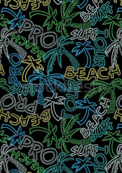 Beach Tour Surf Pro repeat pattern Stock photo © adamfaheydesigns