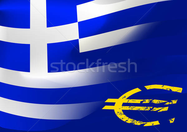 Greece flag with EU symbol Stock photo © adamfaheydesigns