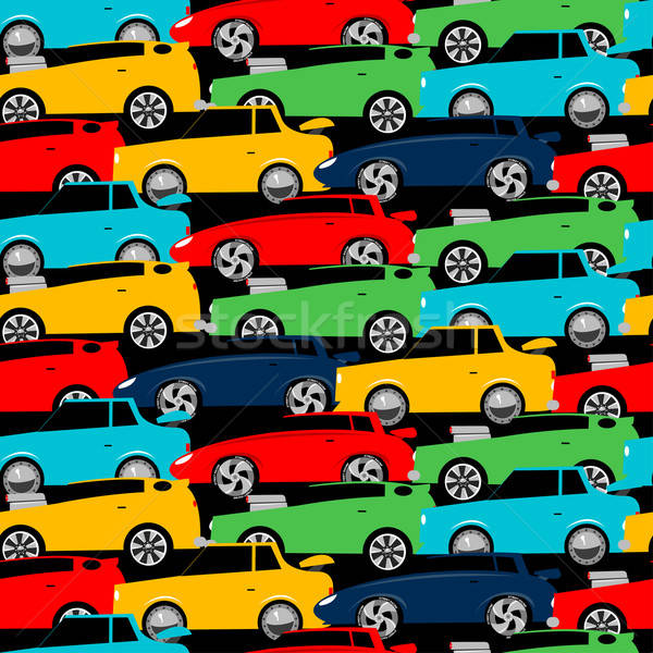 Street racing cars stacked in a seamless pattern Stock photo © adamfaheydesigns