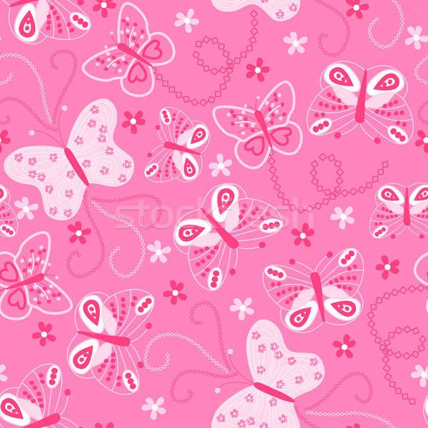 Vlinder borduurwerk Stockfoto © adamfaheydesigns