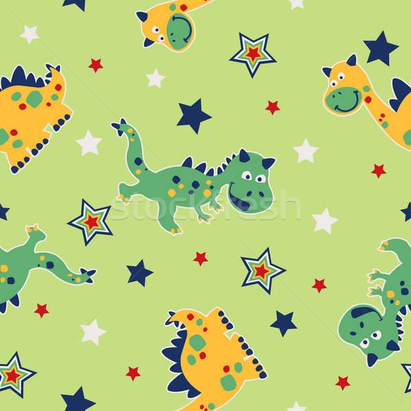 Dragon étoiles vert Photo stock © adamfaheydesigns