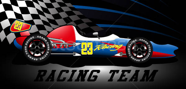 Racing team Open wiel race auto spotlight Stockfoto © adamfaheydesigns