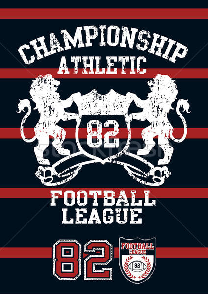 Football league jersey print with red stripes Stock photo © adamfaheydesigns