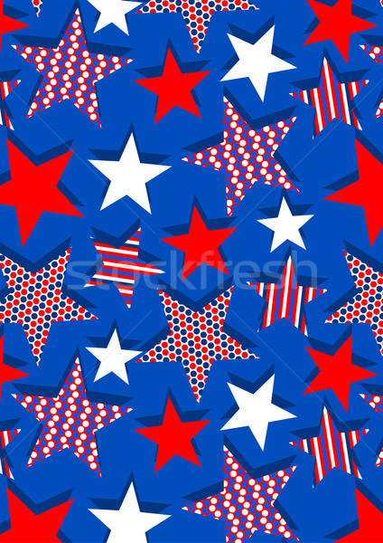 Stars with stripes and dots repeat pattern Stock photo © adamfaheydesigns