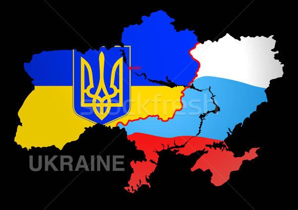 Ucrania mapa Rusia guerra Europa ejército Foto stock © adamfaheydesigns