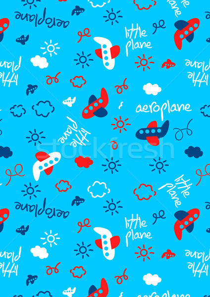 Little plane repeat pattern Stock photo © adamfaheydesigns