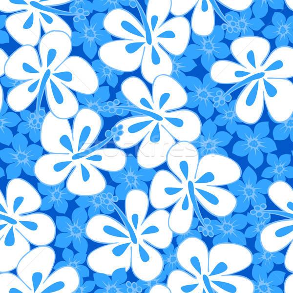 тропические гибискуса простой аннотация цветочный Сток-фото © adamfaheydesigns