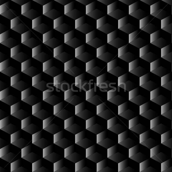 Black graphite mesh seamless pattern Stock photo © adamfaheydesigns