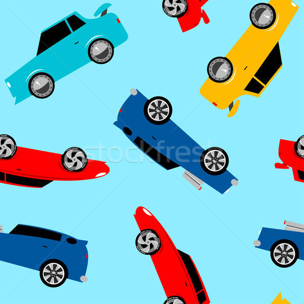 Street racing cars in a seamless pattern Stock photo © adamfaheydesigns