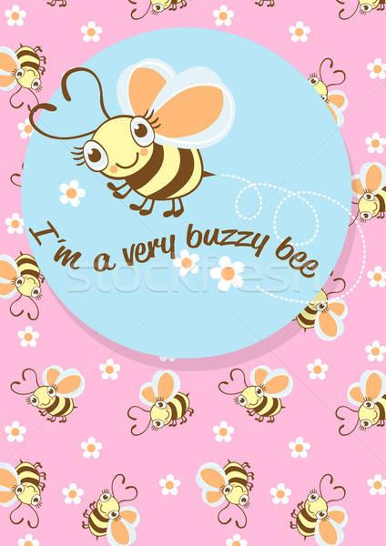 Méh karakter összeillő ismétlés minta gyerekek Stock fotó © adamfaheydesigns