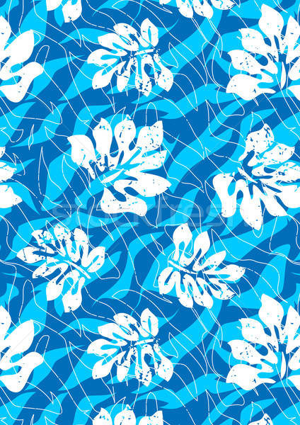 Tropical água folhas repetir padrão Foto stock © adamfaheydesigns