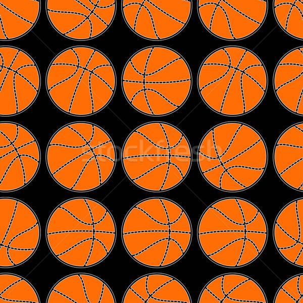 Basketball with stitching detail seamless pattern Stock photo © adamfaheydesigns