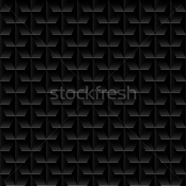 Black embossed abstract design in a seamless pattern Stock photo © adamfaheydesigns