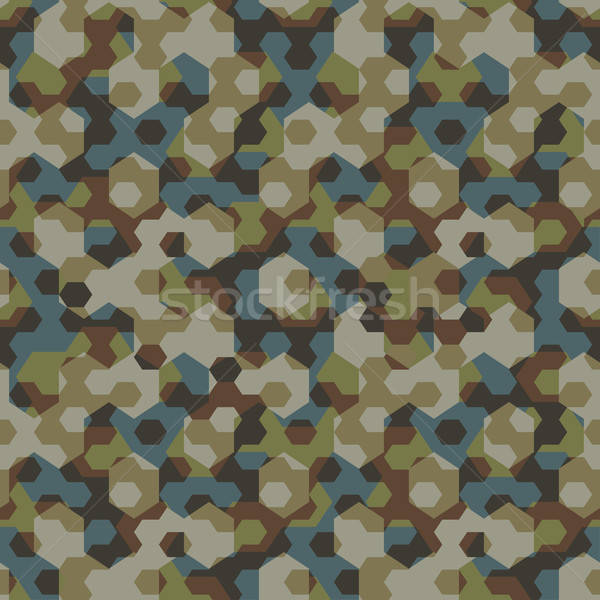 Urban camouflage geometric hexagon seamless pattern Stock photo © adamfaheydesigns